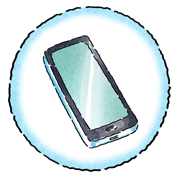 Sharing Image - Icon - Mobile Phone - International